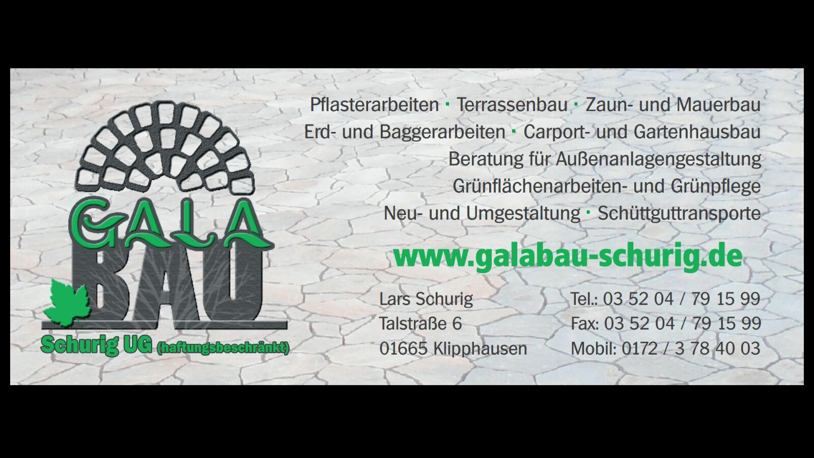 Sponsor des TKV Galabau Schurig