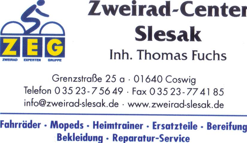 Sponsor des TKV Zweirad-Center Slesak